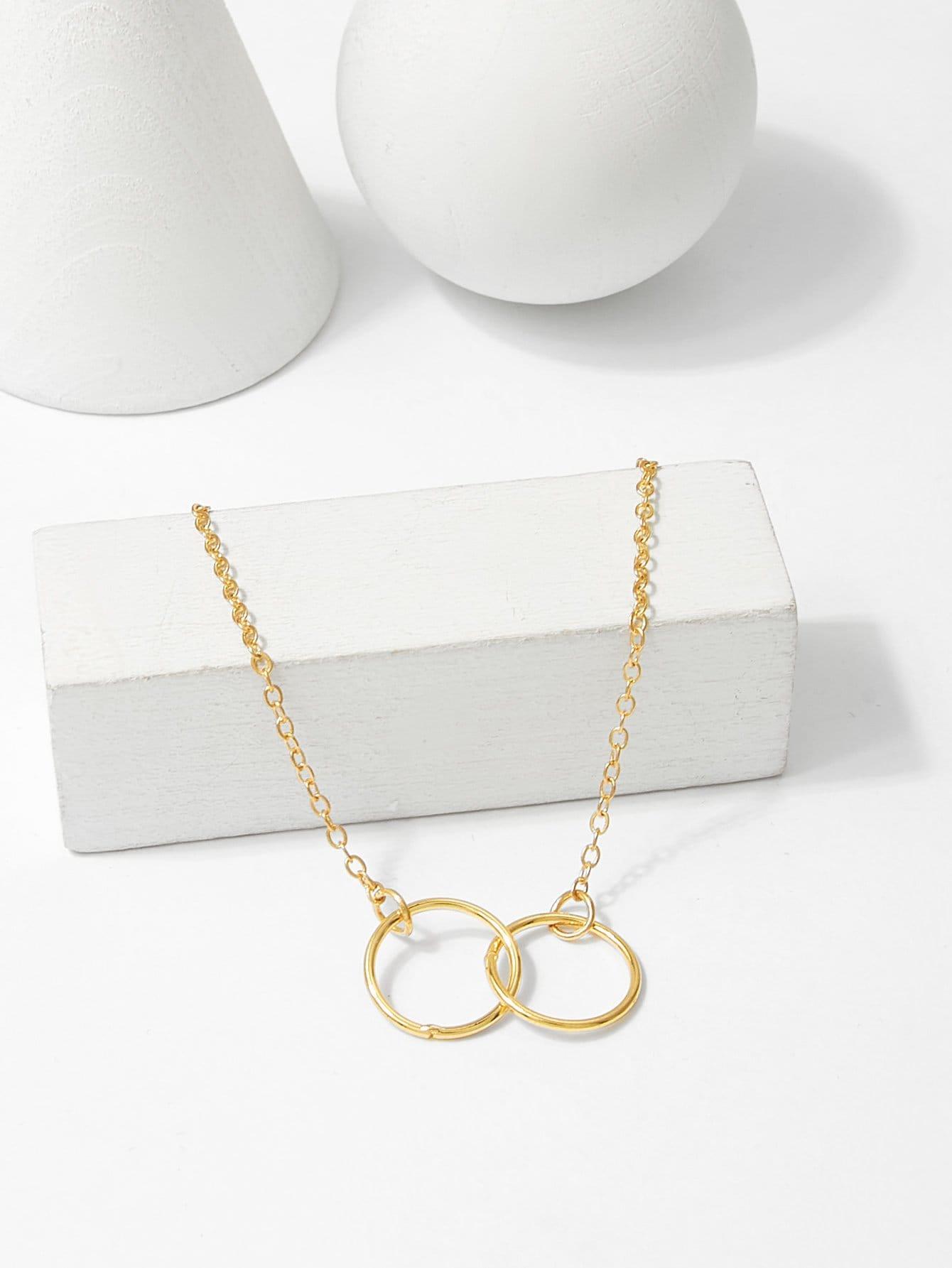 Link Ring Detail Chain Bracelet