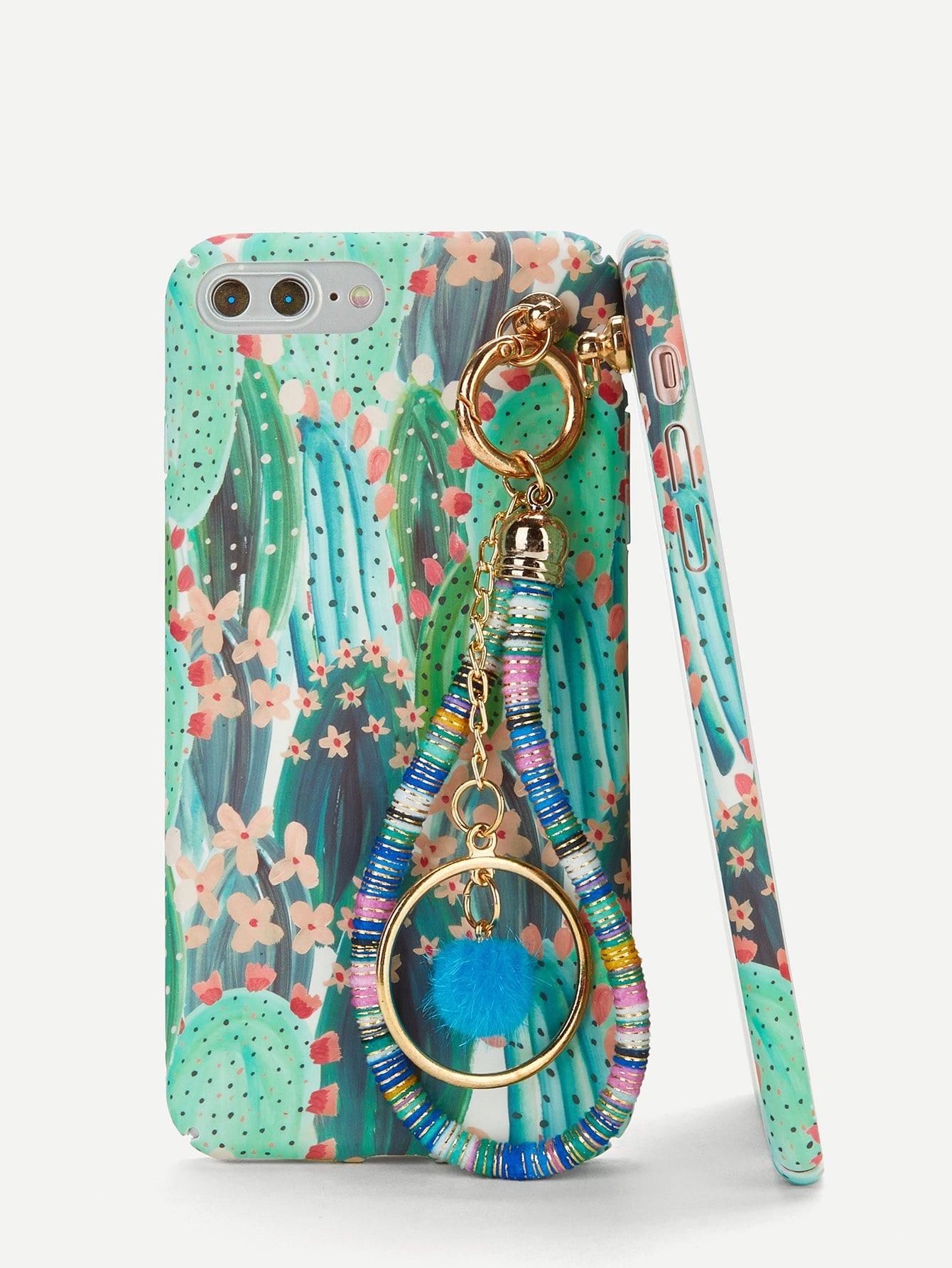 Купить Корпус сотового телефона для iPhone и с рисунком кактуса и с Charm, null, SheIn