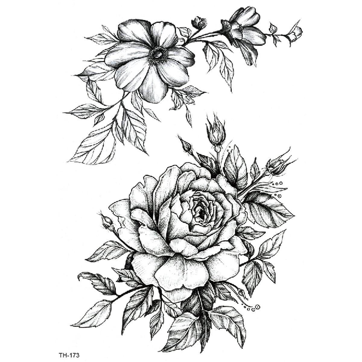 Татуировки с рисунками цветов