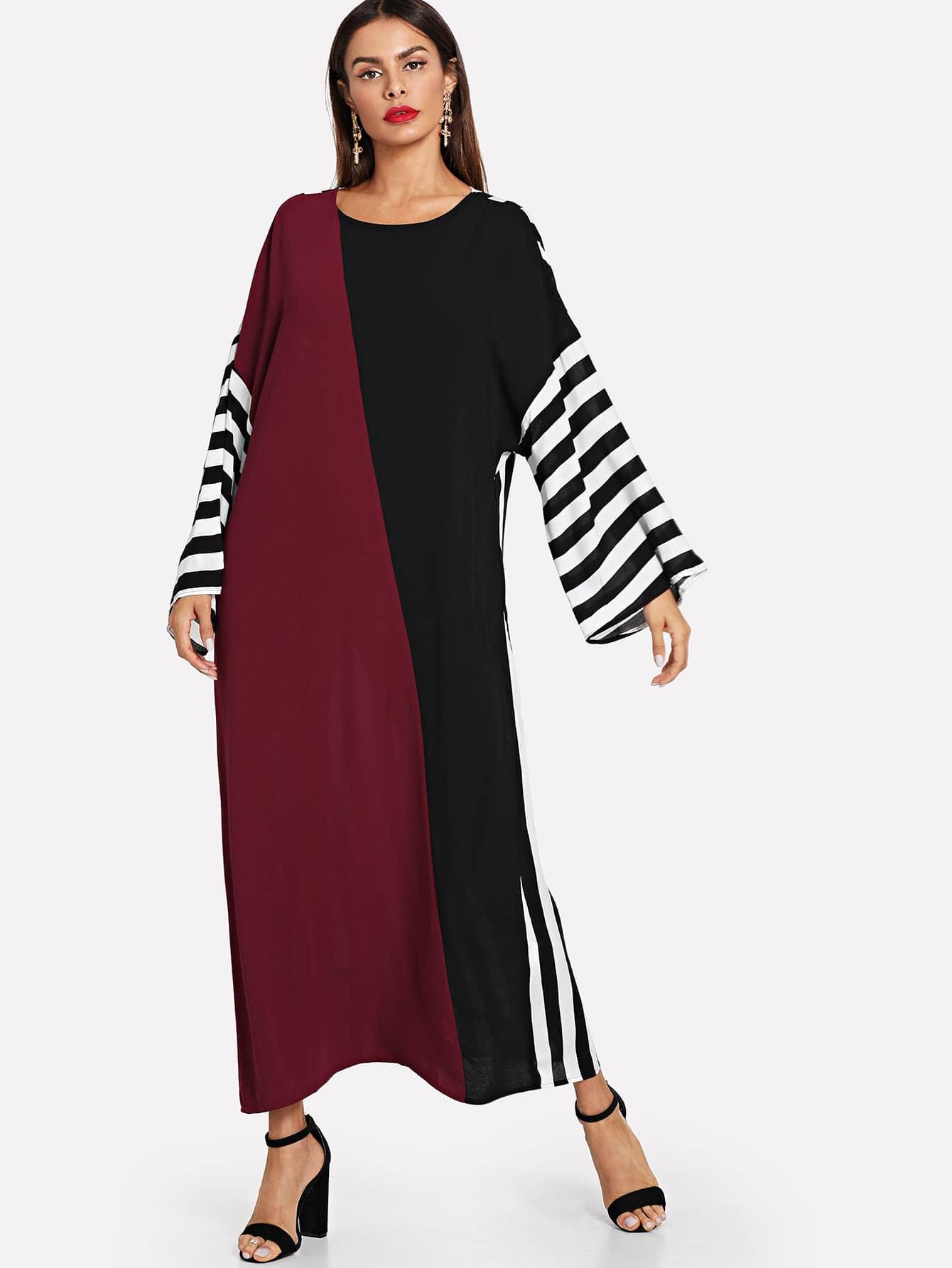 Купить Вырежьте и вышивайте самоналоженное платье Hijab, Andy, SheIn