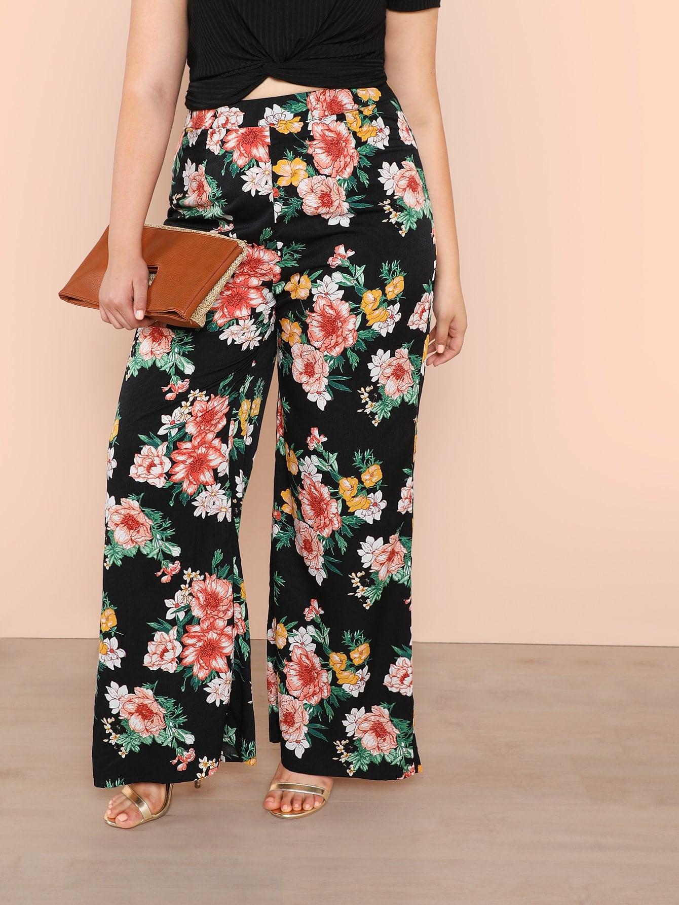 Plus Flower Print Palazzo Pants платье yumi yumi платье