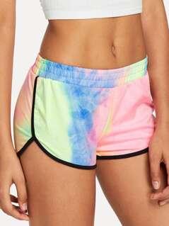 Pastel Tie Dye Dolphin Shorts