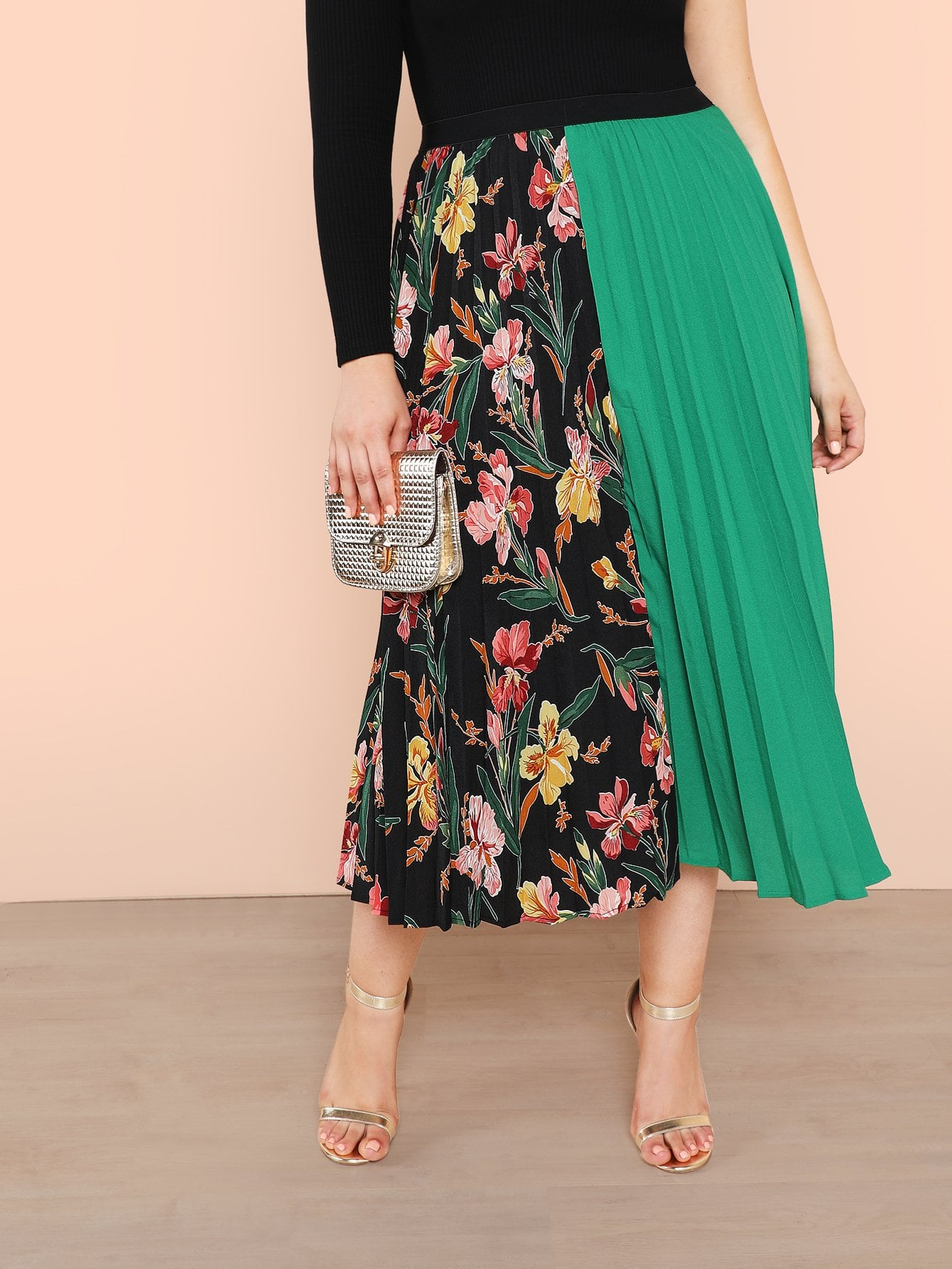 Plus Cut and Sew Pleated Skirt платье yumi yumi платье