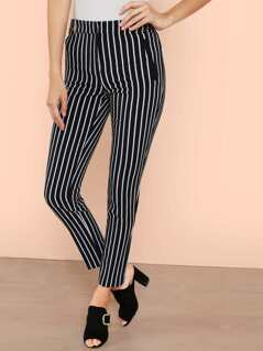 Striped Slim Leg Pant