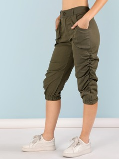 Ruched Capri Pants