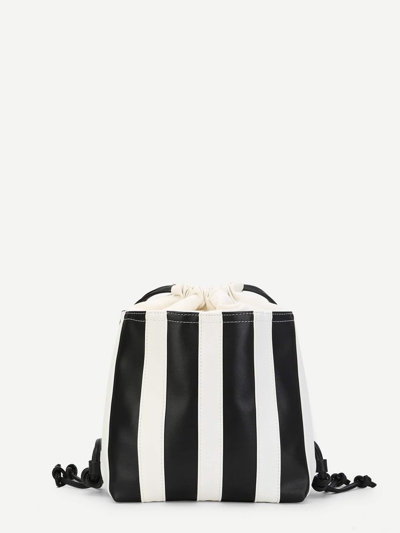 Купить Кусковая полосатая рюкзак и с басоном эластичным, null, SheIn