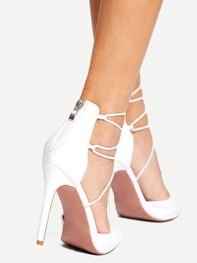 SheIn / Criss Cross Strap Point Toe Heels