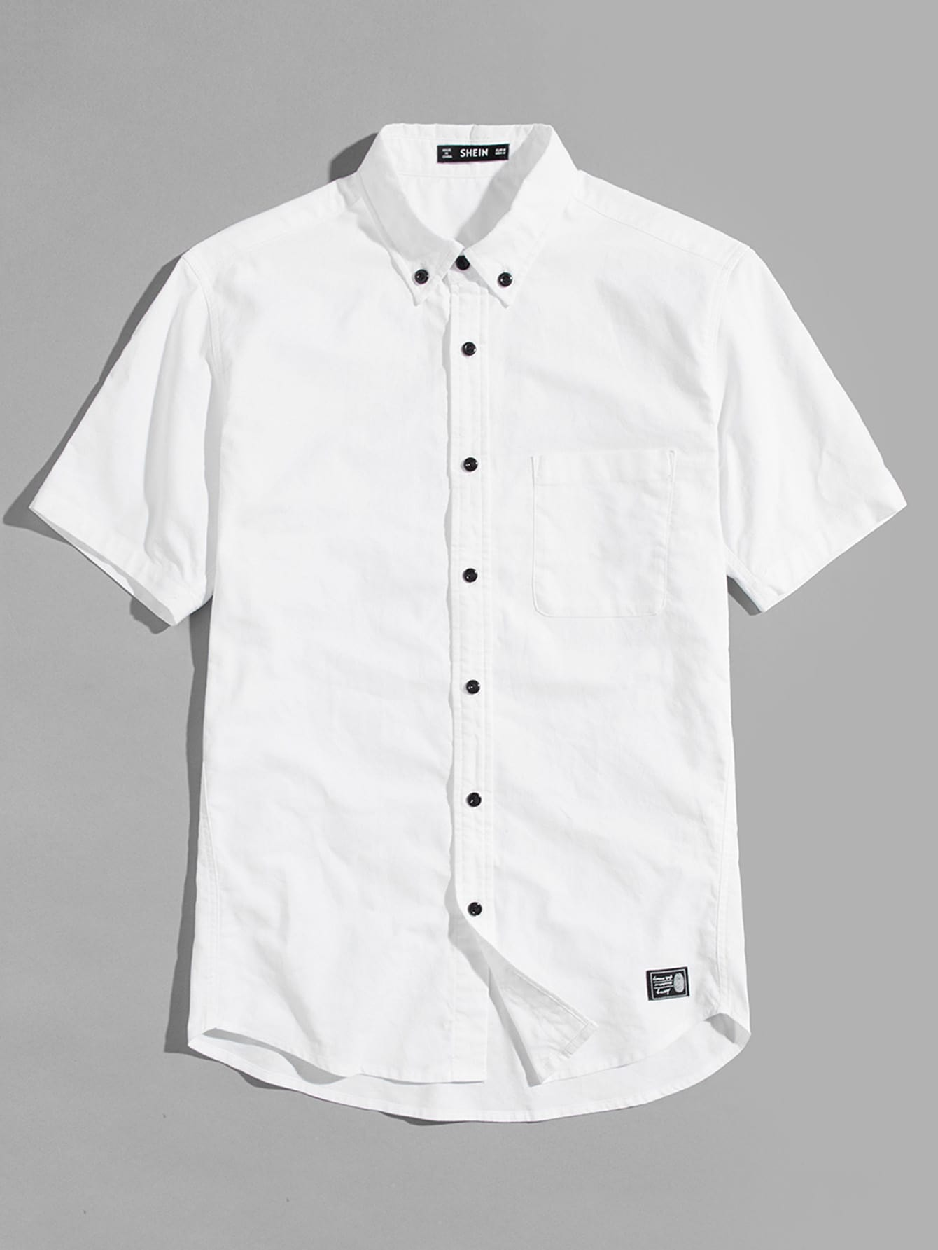 Купить Мужская карманная рубашка, null, SheIn