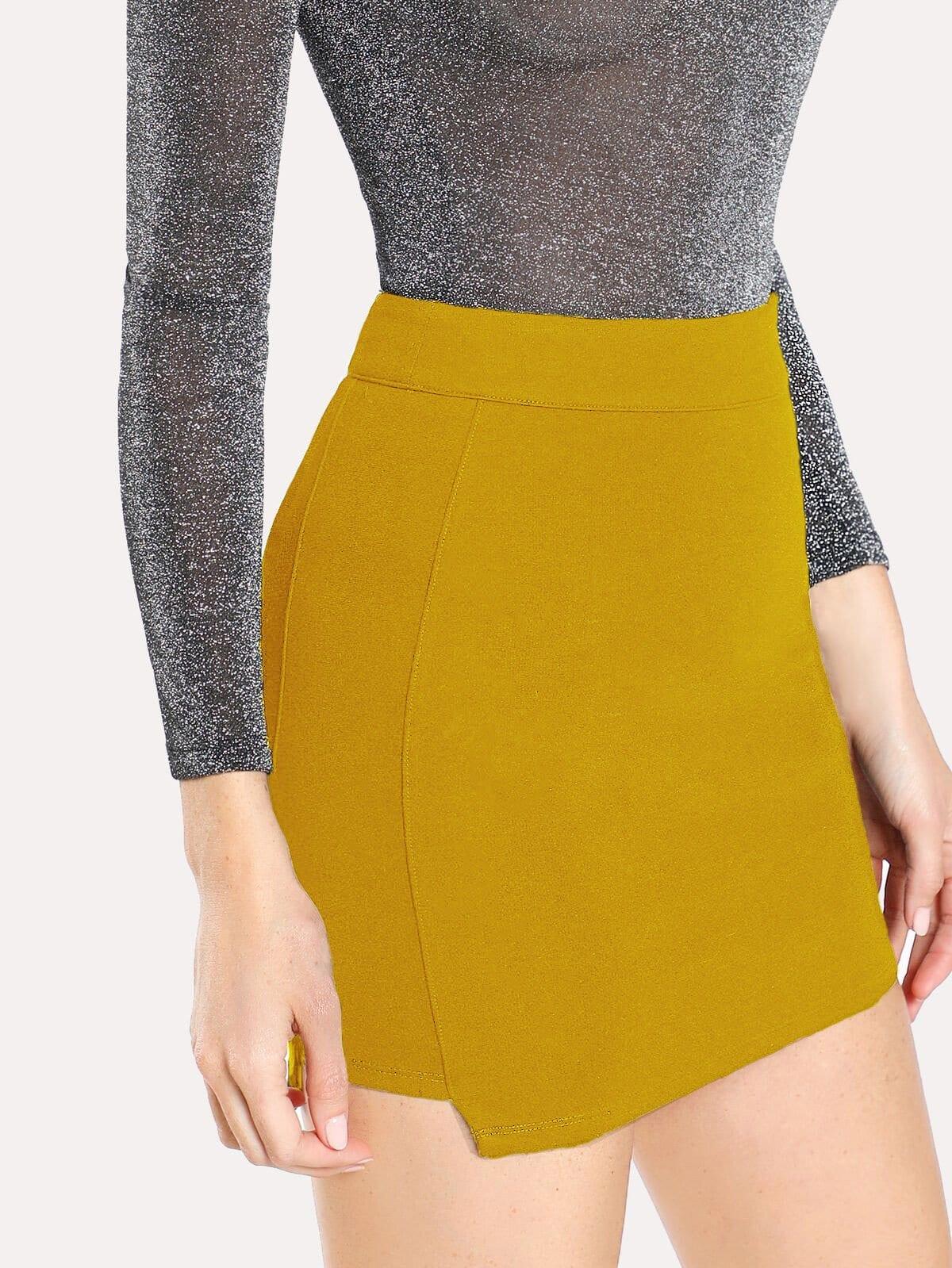 Solid Knit Bodycon Skirt кожаная куртка quelle ashley brooke by heine 14394