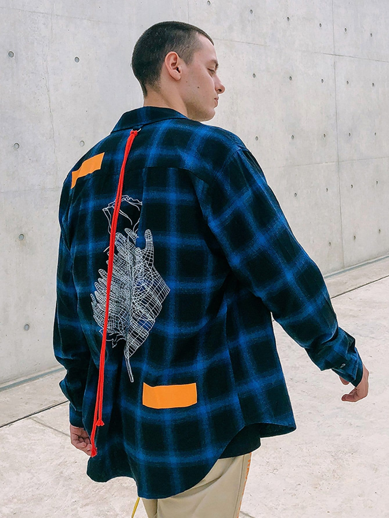 Men Red Rope Decoration Plaid Shirts куртка quiksilver ambition racing red