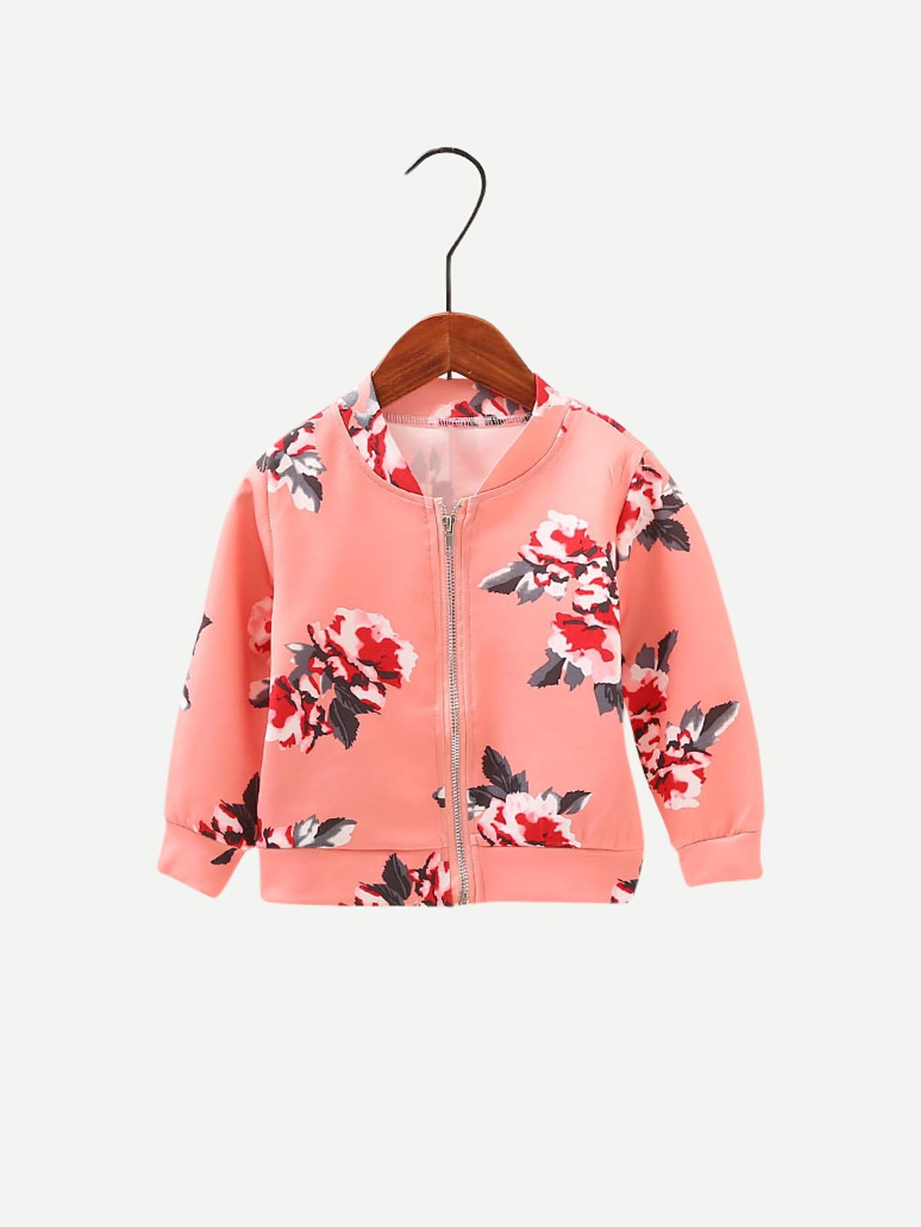 Девушки Цветочные Печати Куртка