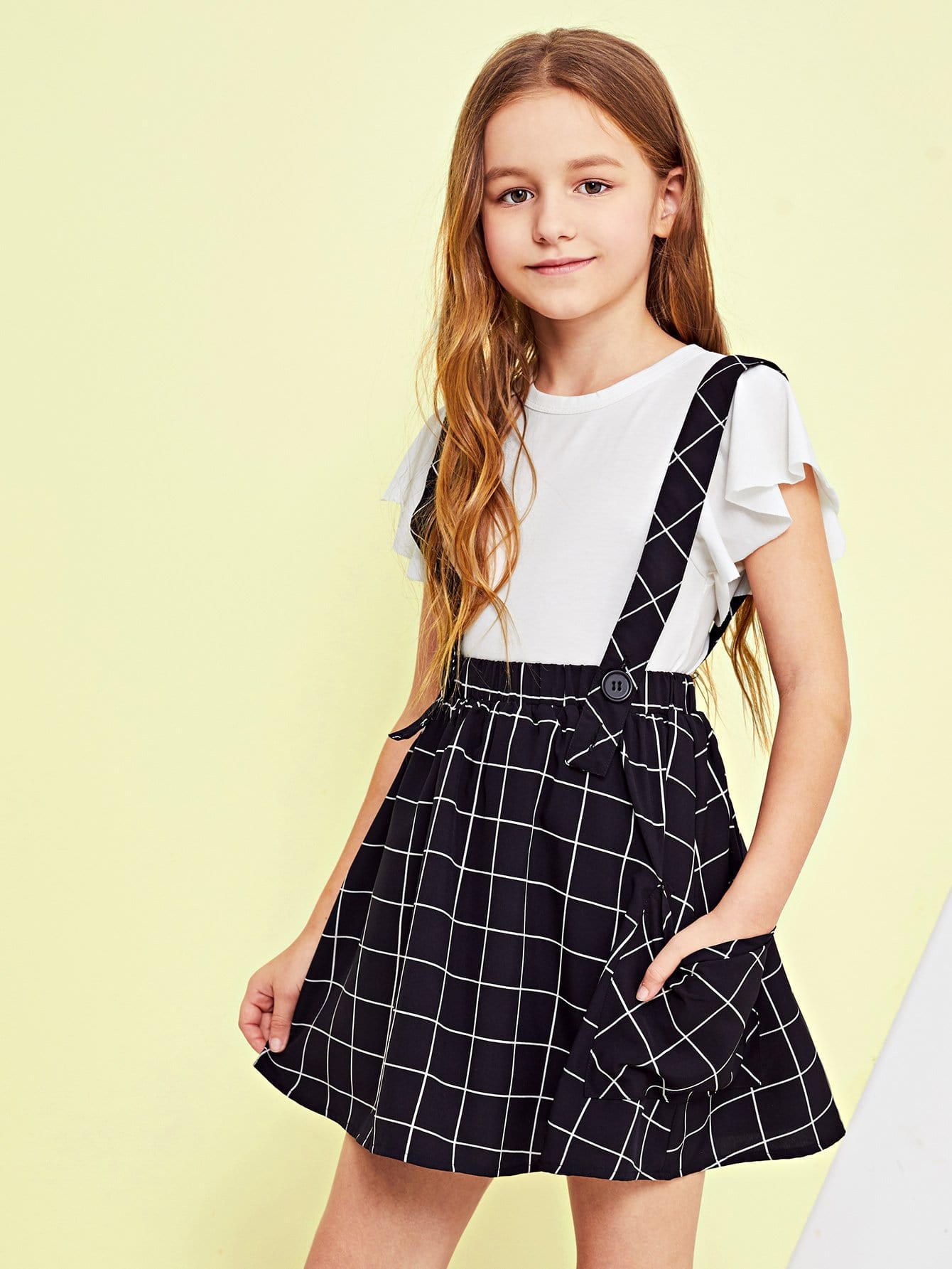Купить Женская сетка для печати Флажная юбка с толстым ремешком, Sashab, SheIn