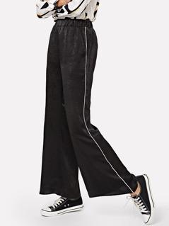 Slant Pocket Striped Pants