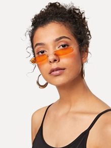 Rimless Oval Sunglasses