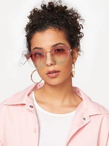 Ombre Lens Rimless Sunglasses
