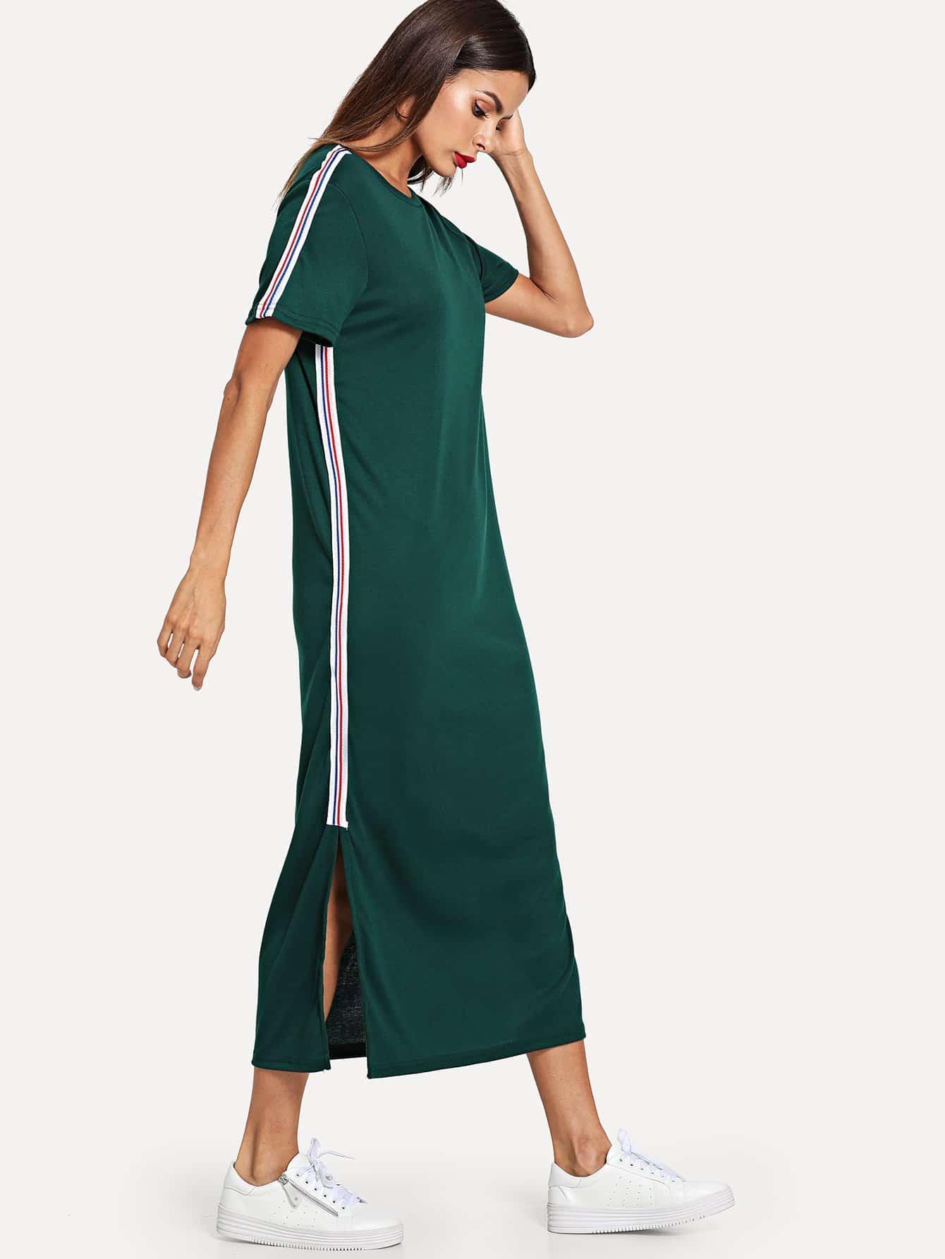 Купить Платье с вырезом по обе стороны и с украшением ленты, Andy, SheIn
