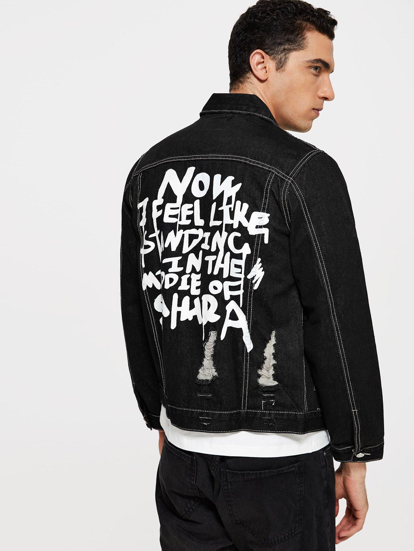 Мужчины Контрастность Шить Джинсовые Куртки