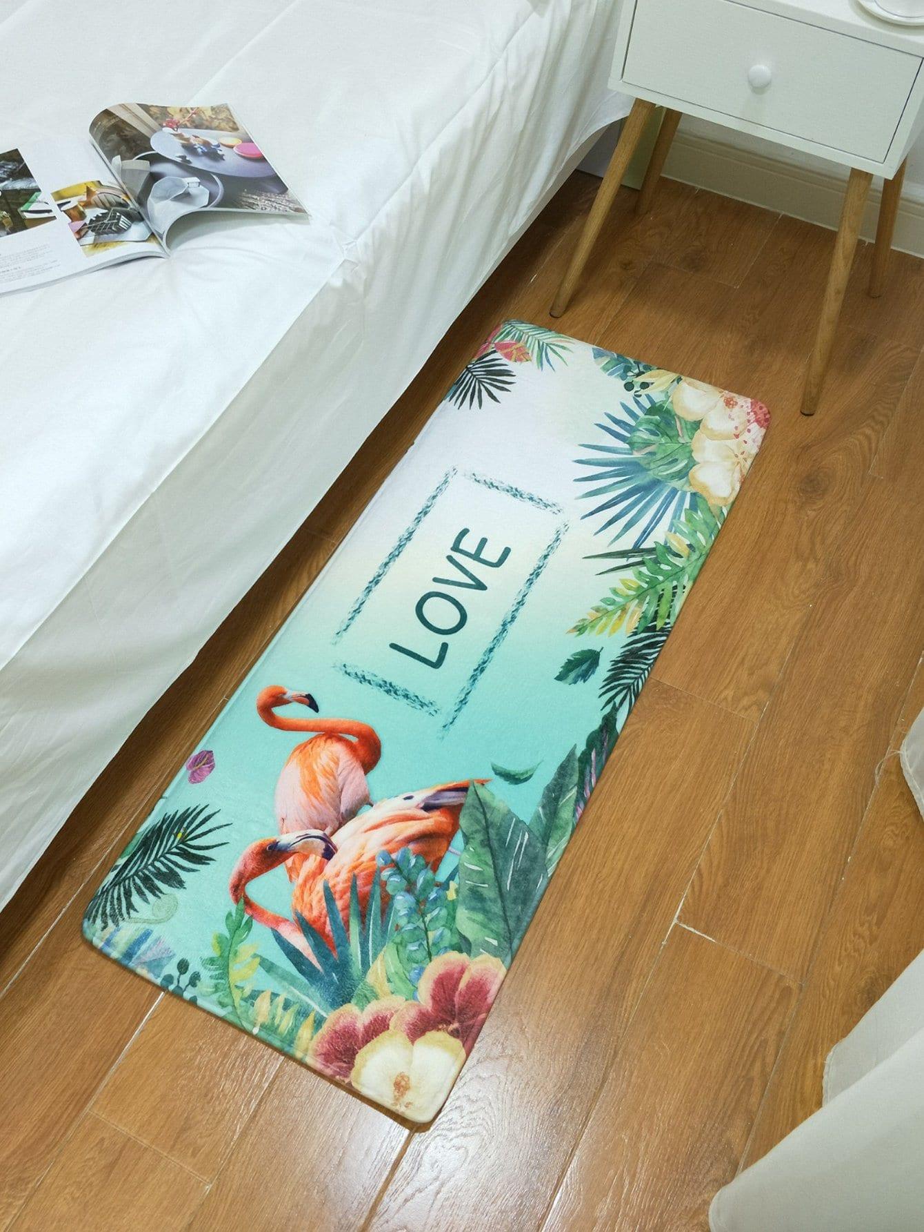 Flamingo & Tropical Print Mat