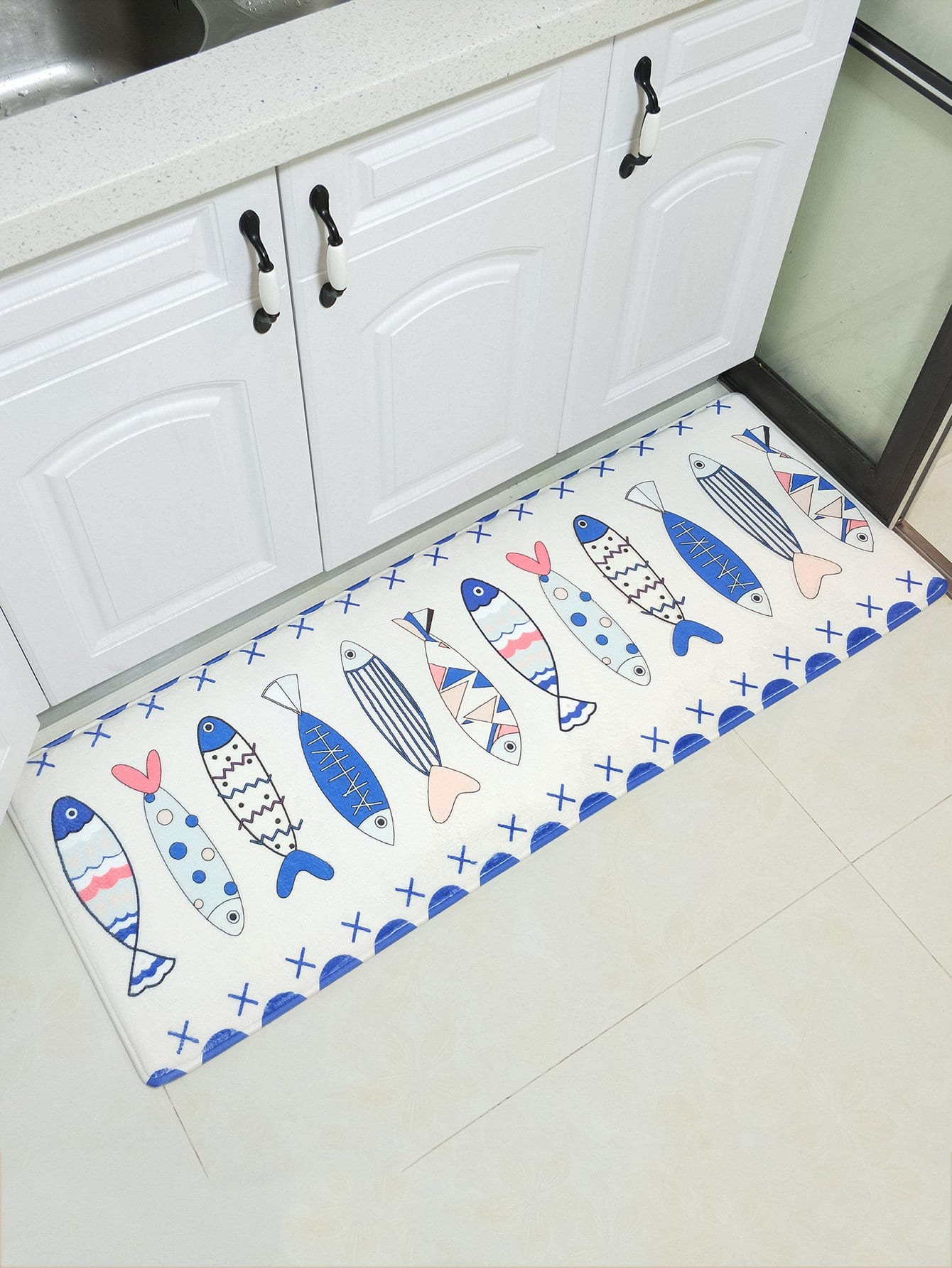 Fish Print Floor Mat
