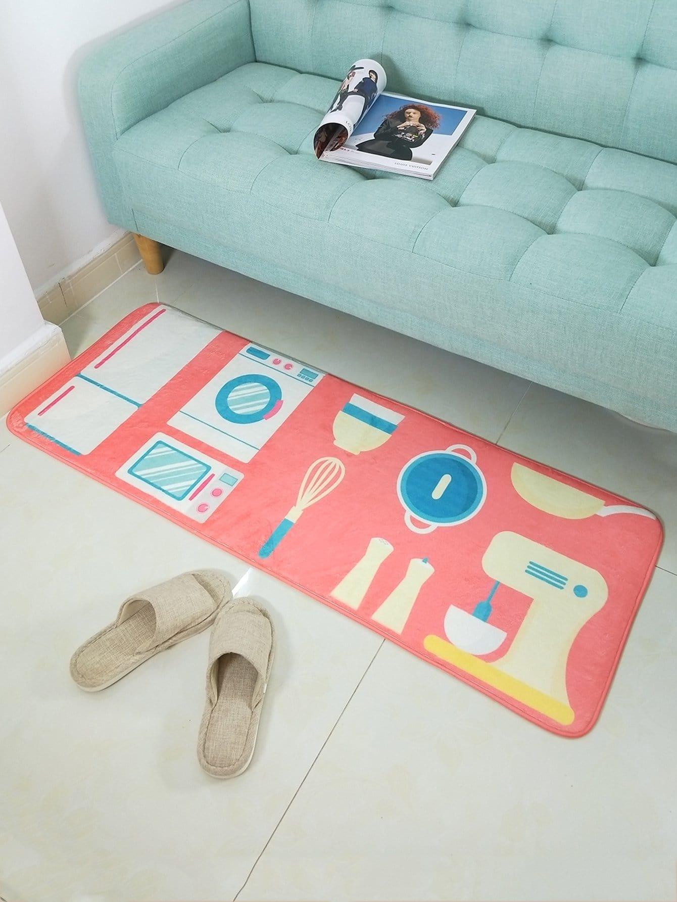 Cartoon Print Floor Mat cartoon animal door mat