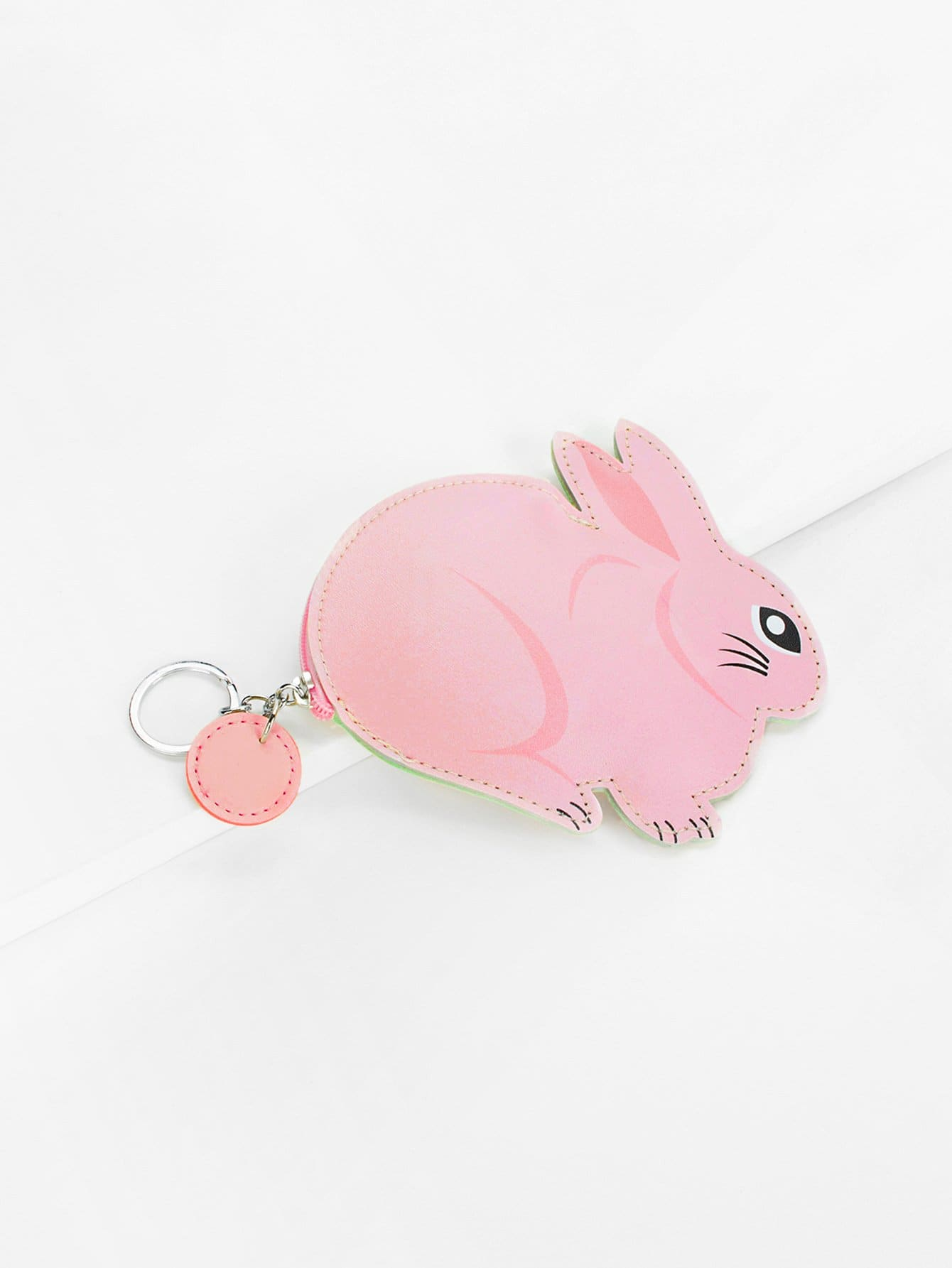 Rabbit Shaped Coin Purse 2017 cute girls coin purses small coin bag key ring kawaii bag kids mini wallet card holders leather cartoon coin purse1bw73