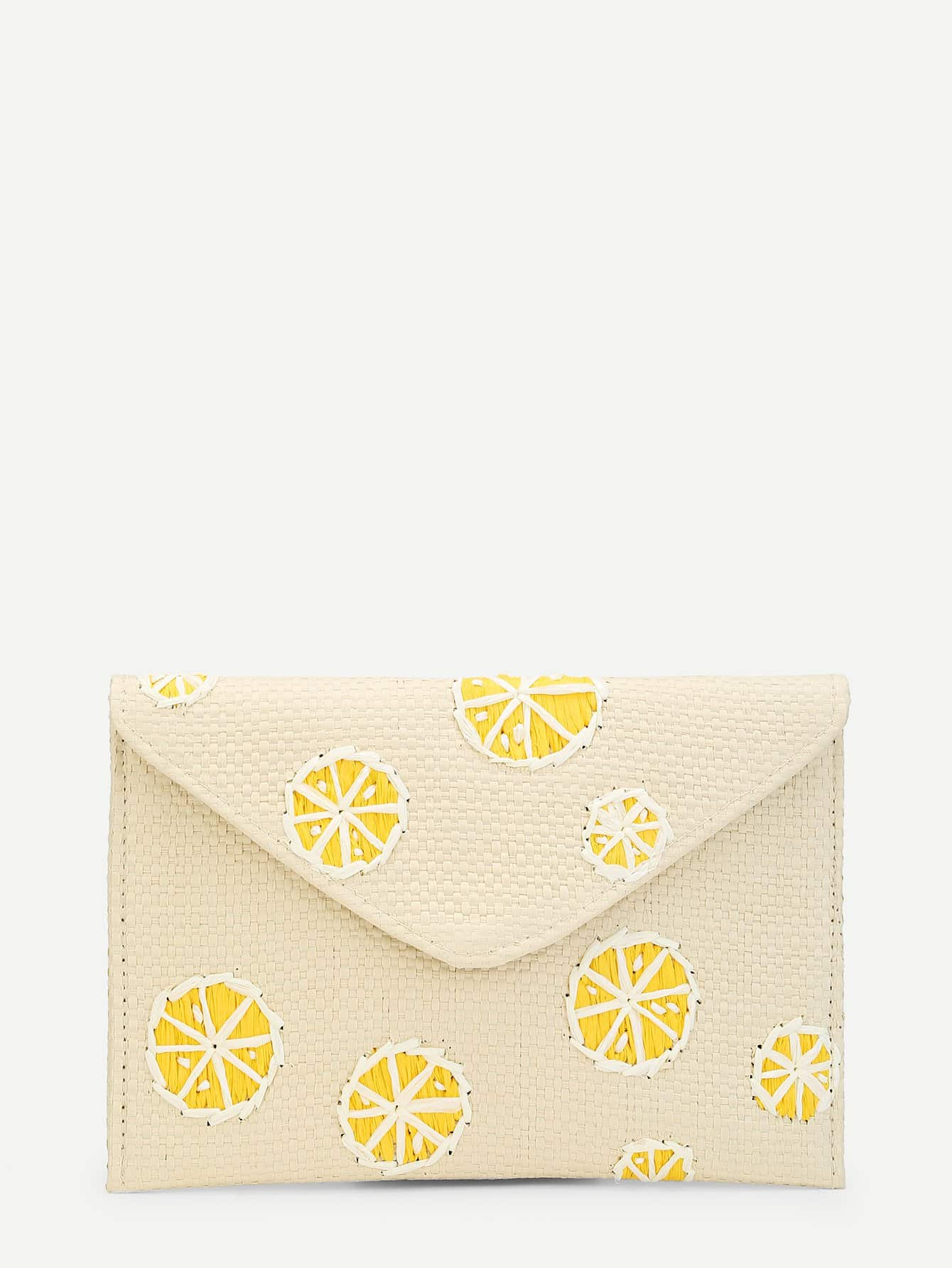 Lemon Pattern Clutch Bag сибелиус концерт для скрипки с оркестром симфония 3