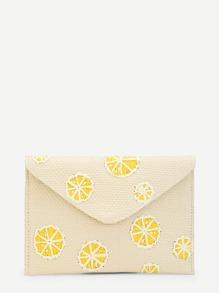 Lemon Pattern Clutch Bag