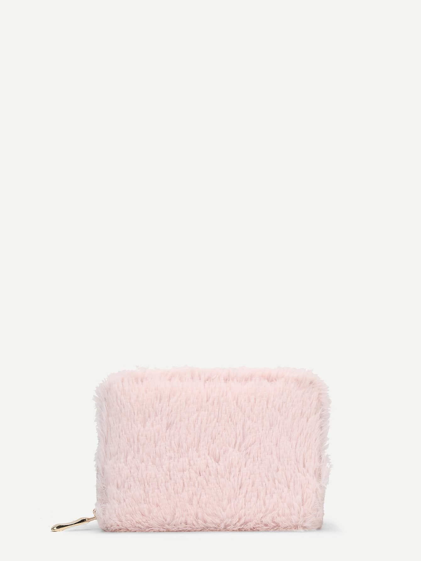 Купить Мех Кошелькиипортмоне розовый Сумки, null, SheIn