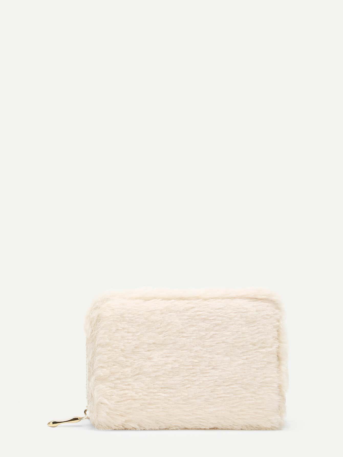 Купить Мех Кошелькиипортмоне белый Сумки, null, SheIn