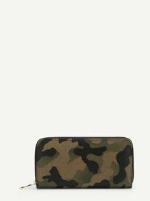 Camouflage Zipper Purse