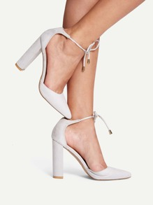 Point Toe Lace-up Heels