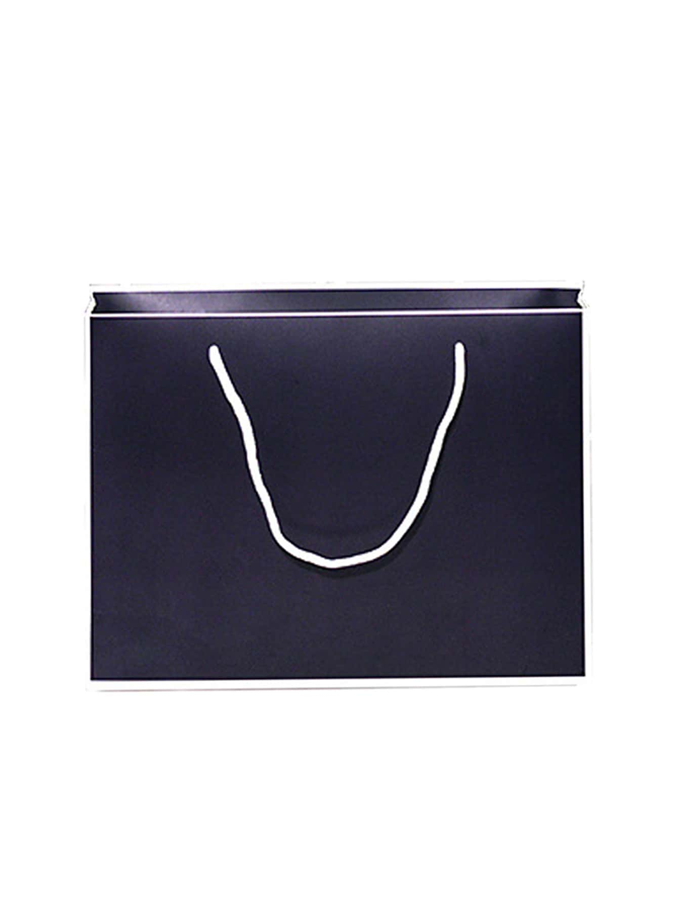 Contrast Trim Large Paper Bag