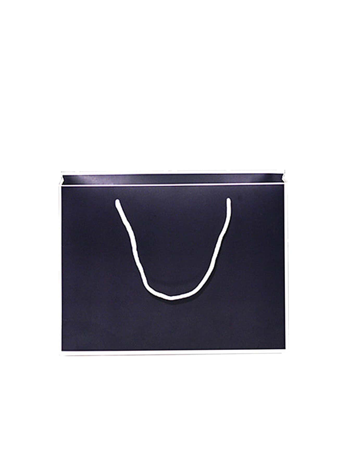 Contrast Trim Paper Bag