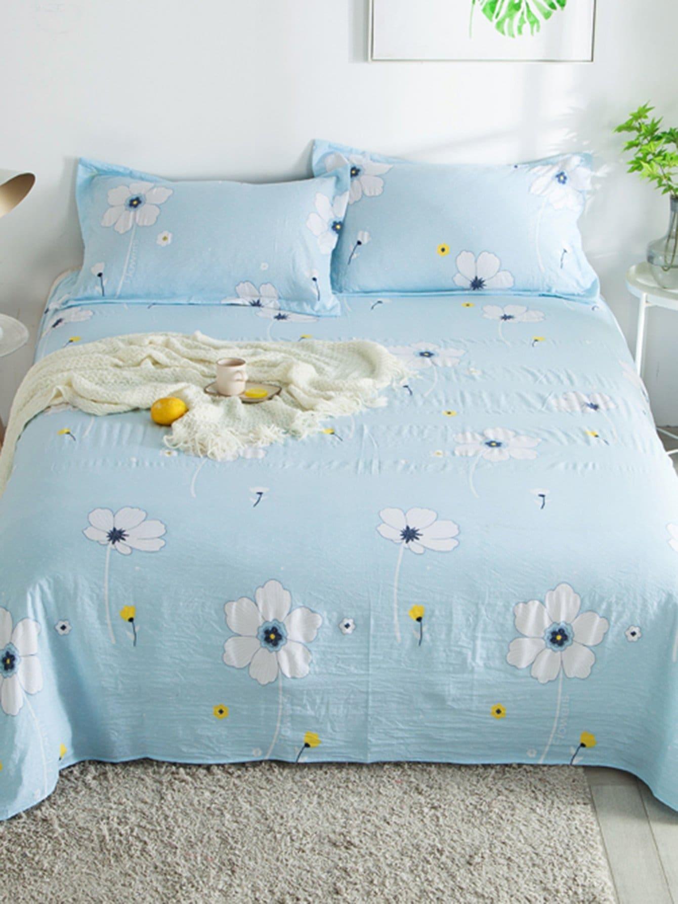 Купить Общий ситцевый плоский чехол на одеяло 1шт, null, SheIn