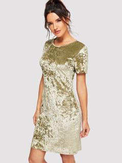 Form Fitting Cord Dress
