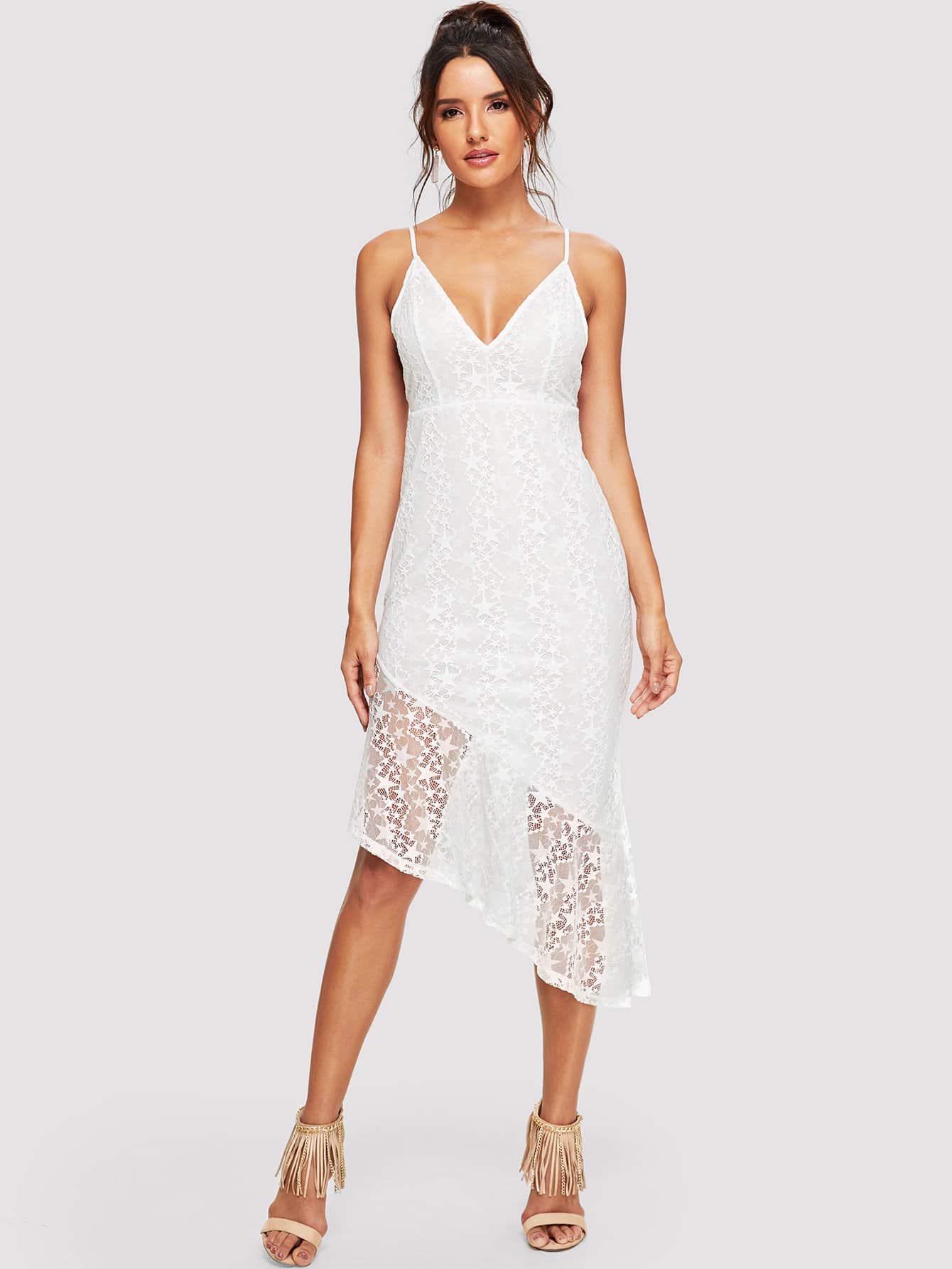 Платье Ruffle Hem Solid Cami