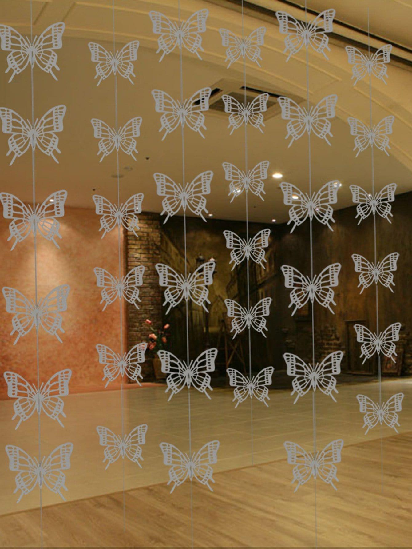 36pcs Schmetterling hängende Dekor & 6pcs Zeichenfolge