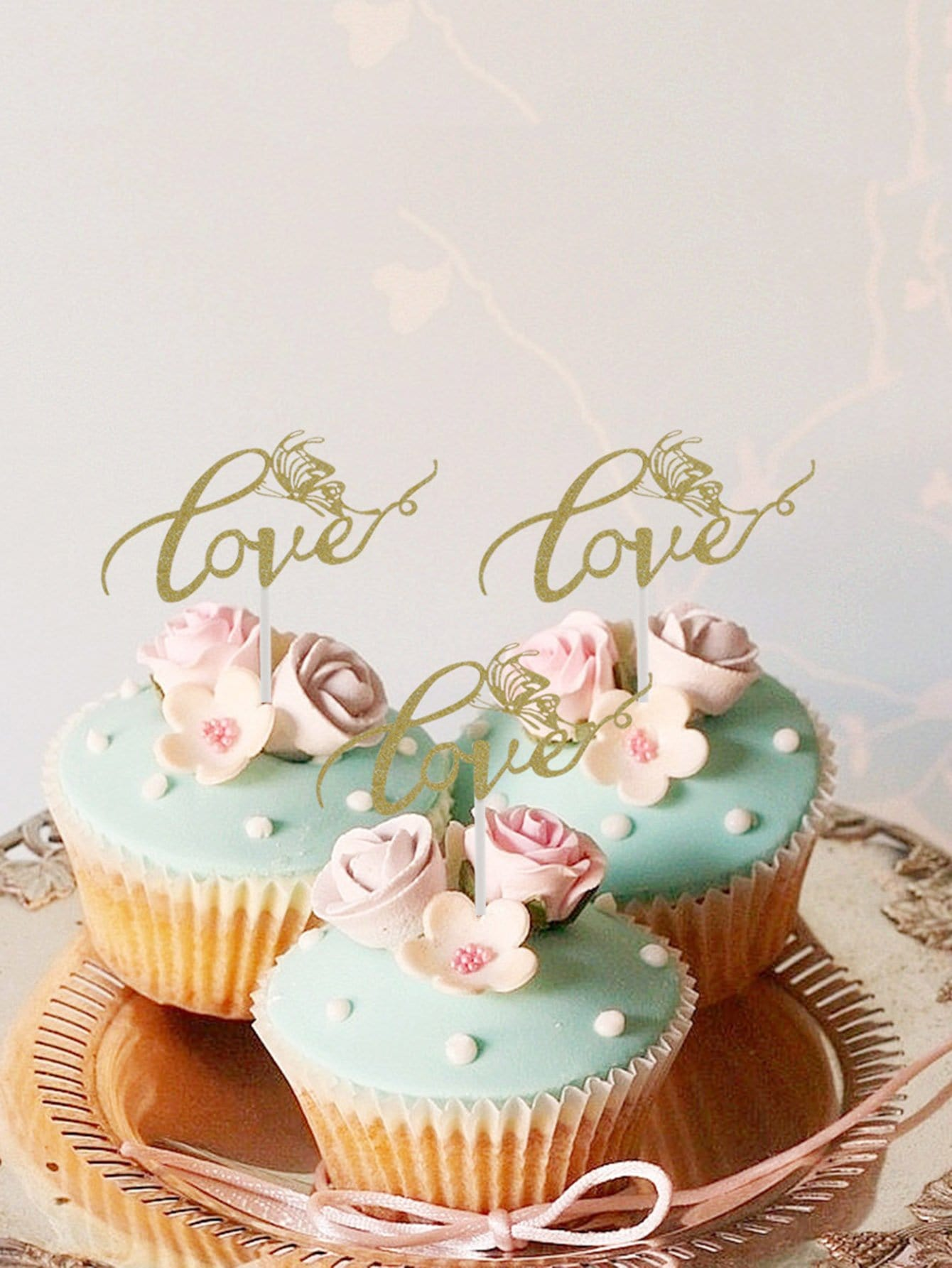 Cake Topper Decoration 1pc With Paper Stick