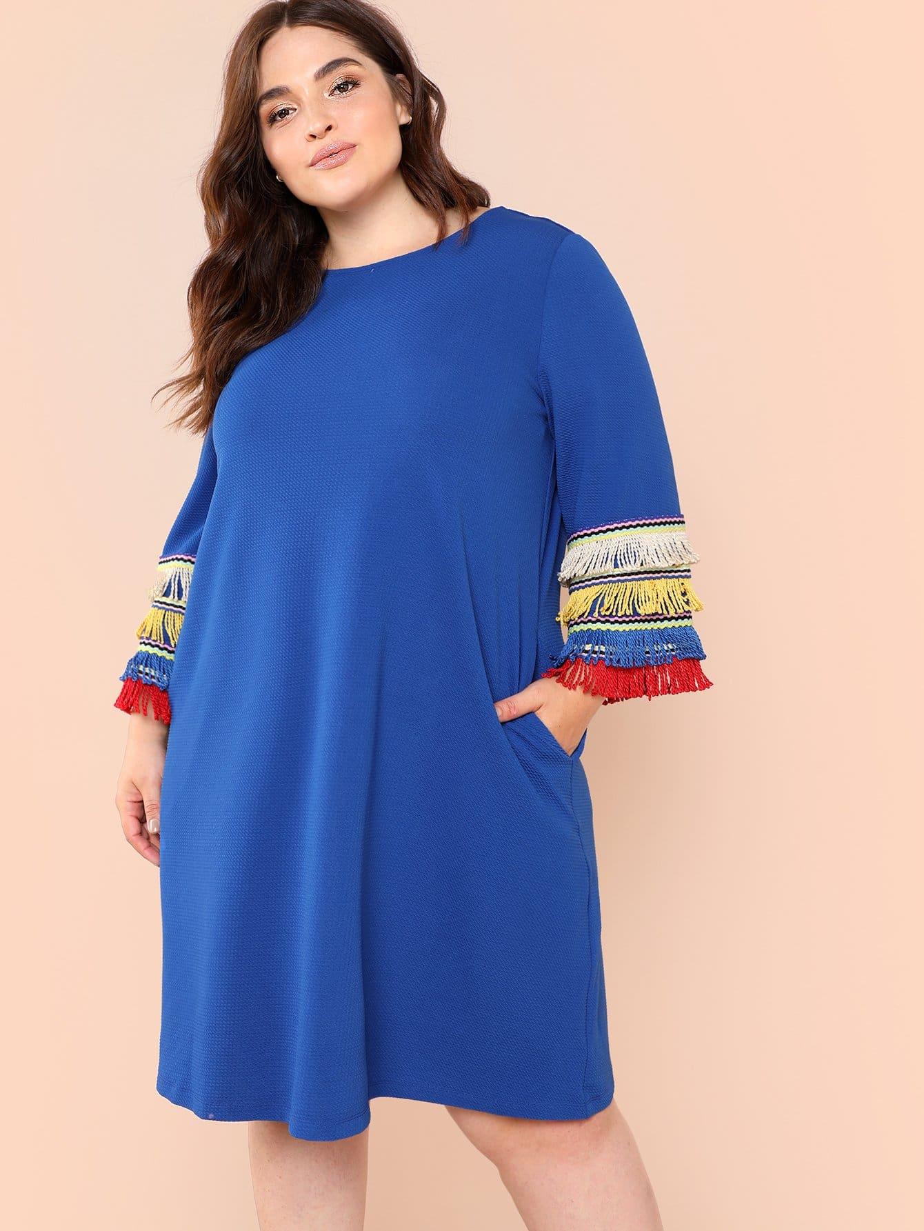 Купить Платье из мягкой ткани, null, SheIn