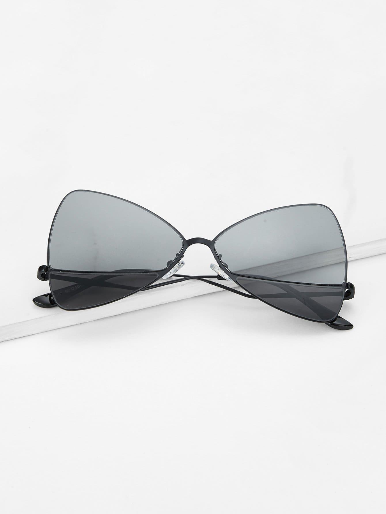 Triangle Shaped Lens Sunglasses triangle design mirror lens sunglasses