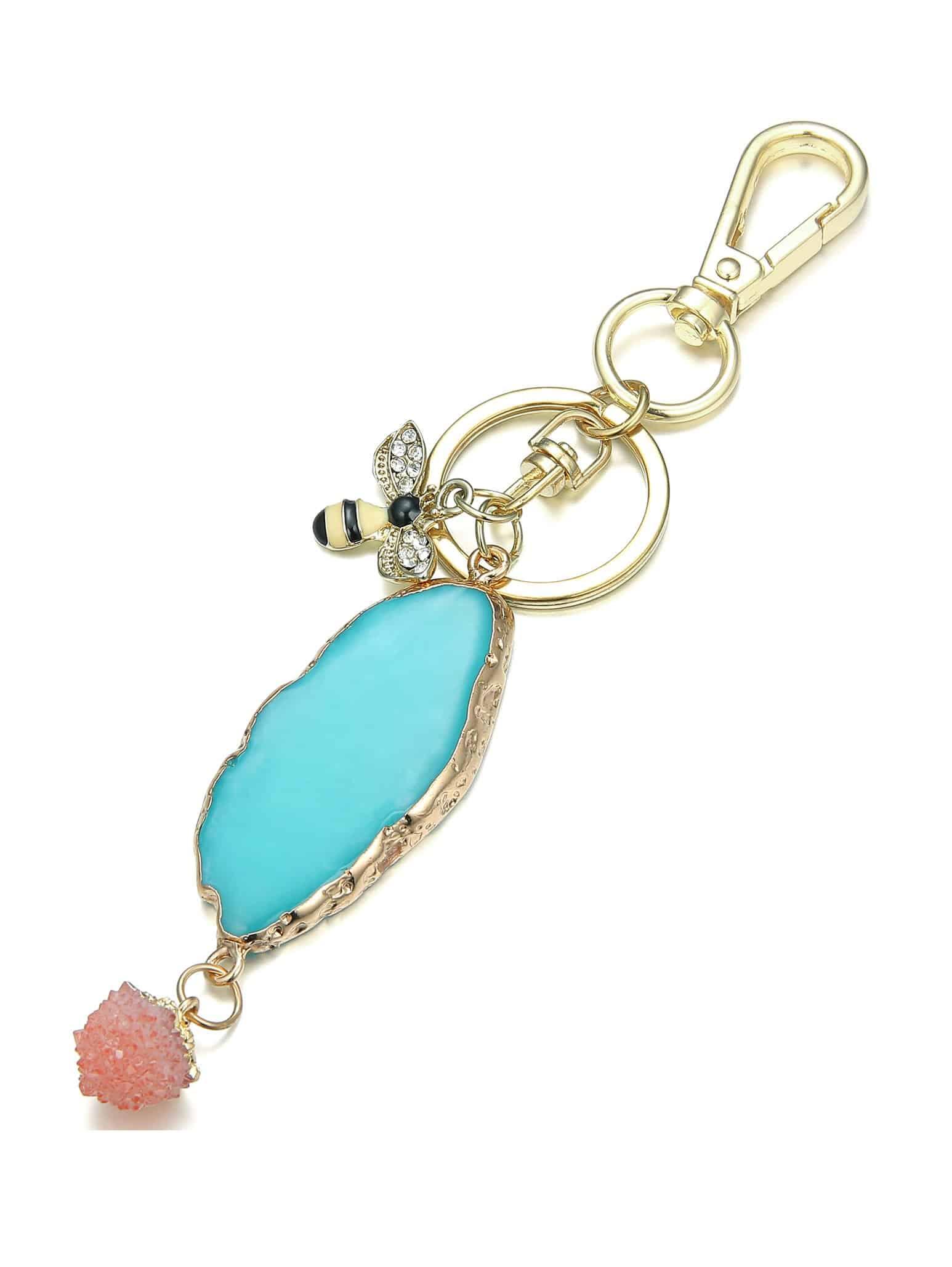 Купить Каменный брелок для ключей и с украшением пчелы, null, SheIn