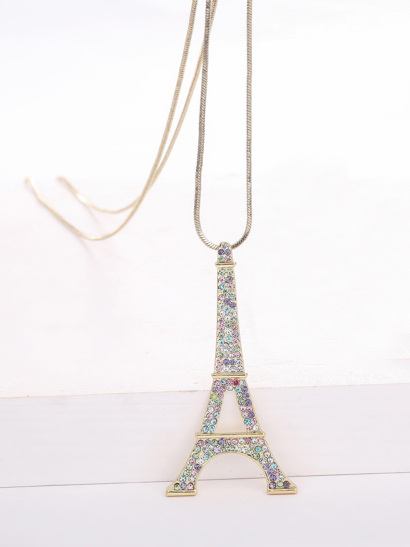 Eiffelturm Anhänger Gold überzogene Halskette