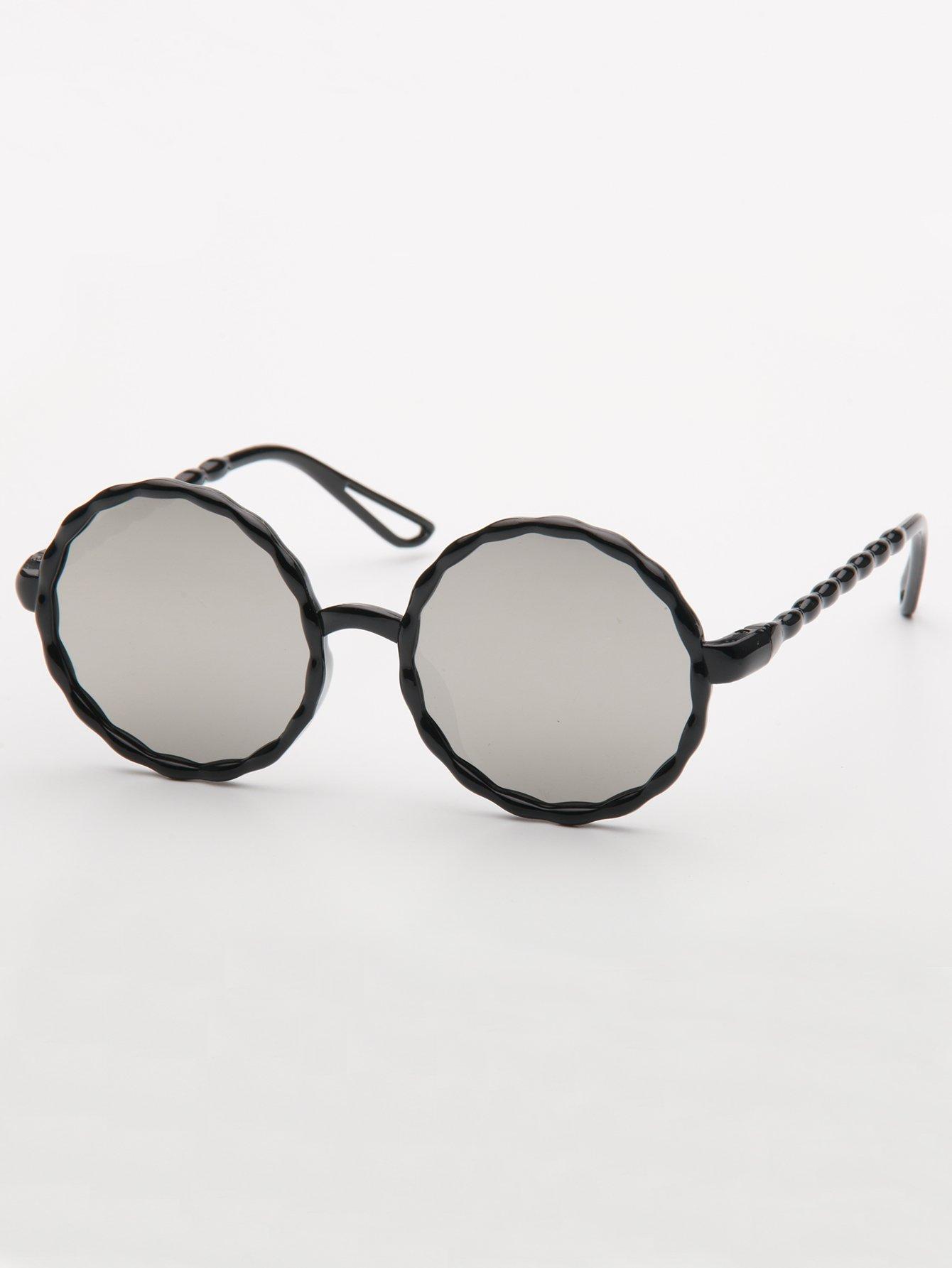 Купить Круглые солнцезащитные очки и с облегающими оправами для девочки, null, SheIn