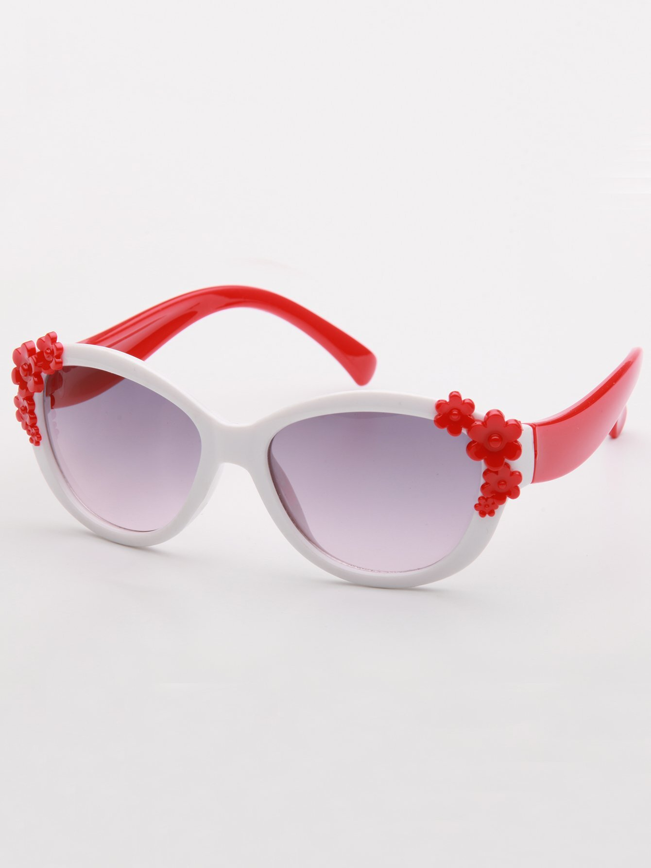 Girls Flower Decor Two Tone Sunglasses полотенце для ванной two tone grafik quelle quelle 239974