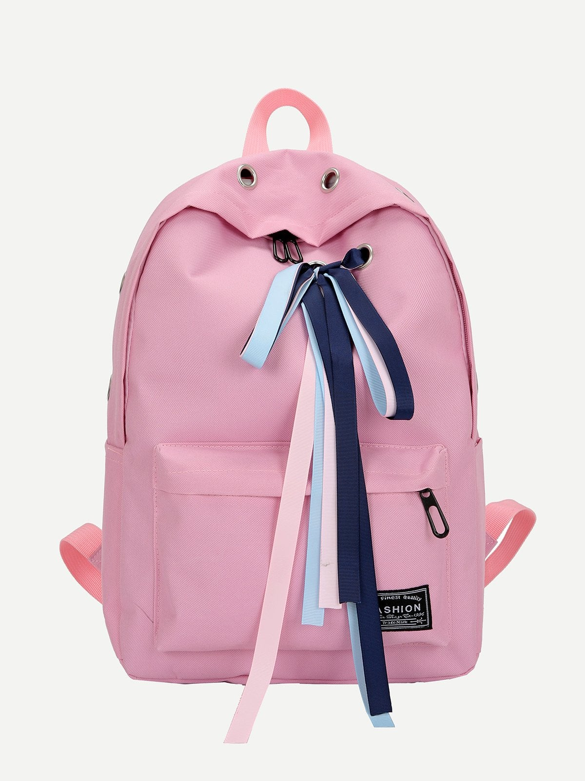 Eyelet Detail Ribbon Decor Backpack