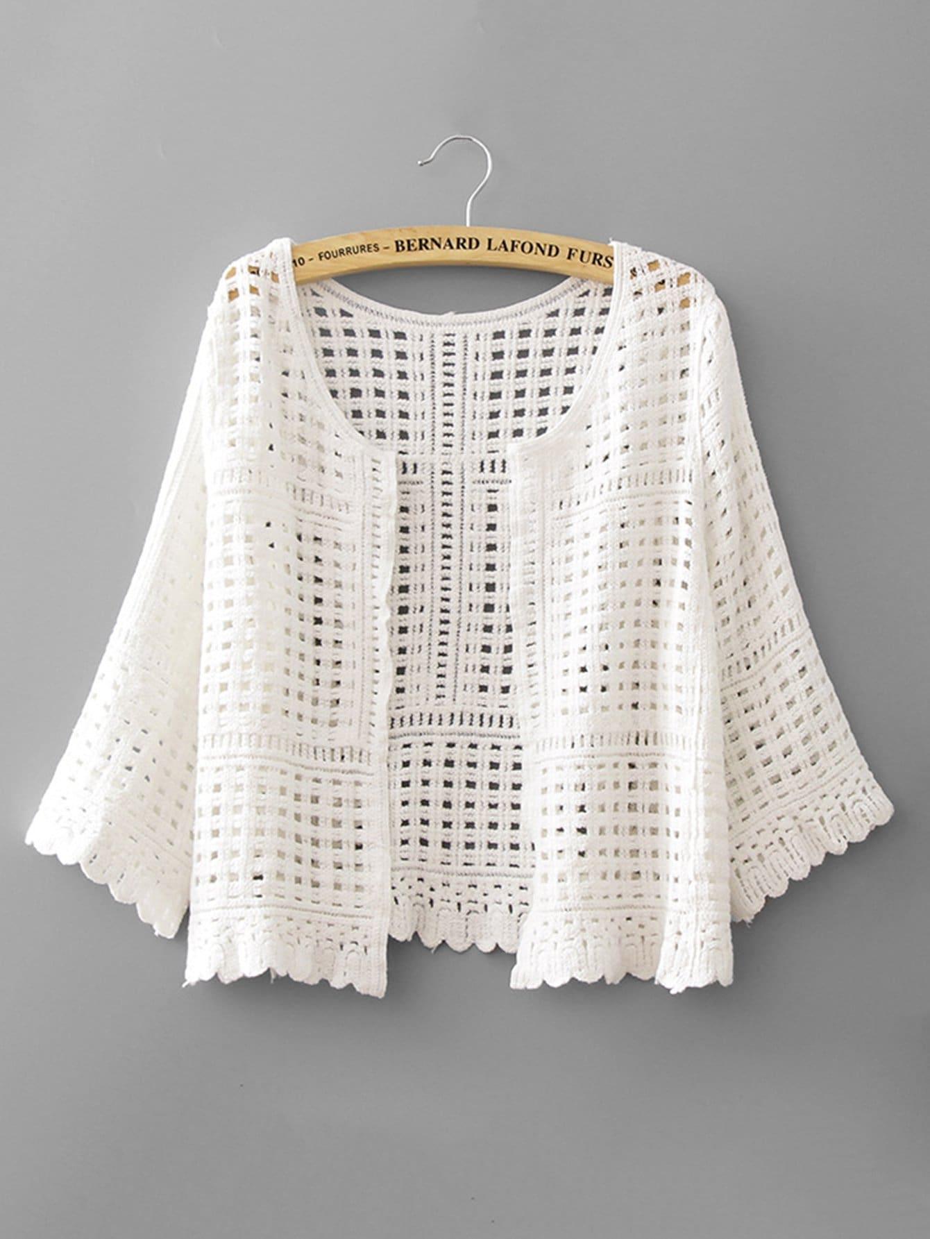все цены на Hollow Out Crochet Kimono