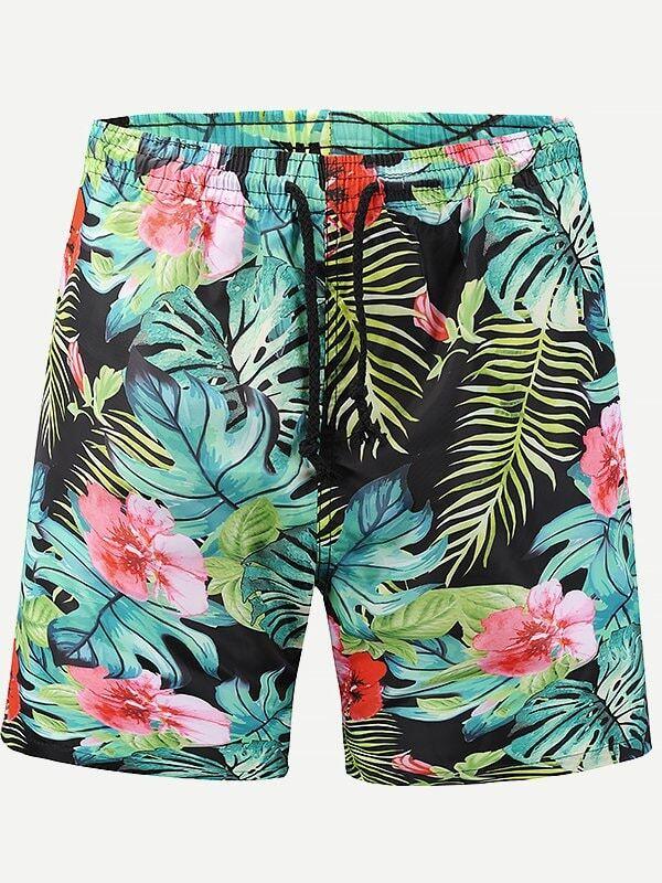 Men Floral Print Shorts shorts gas shorts