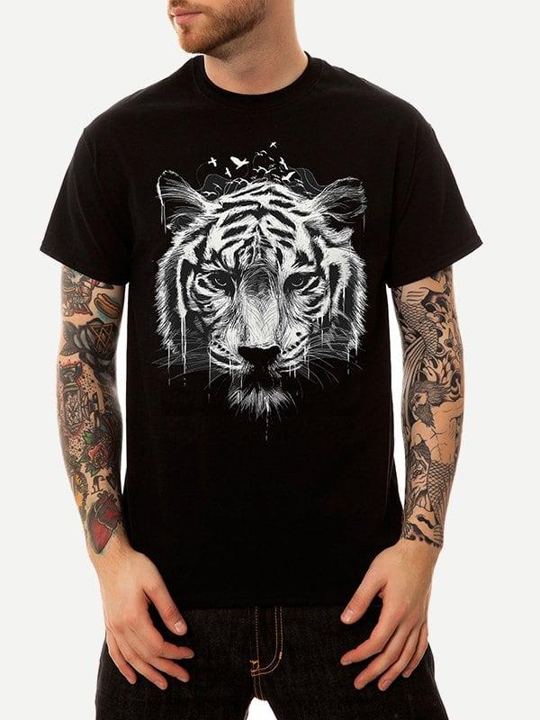 Купить Футболка с рисунком тигра для мужчины, null, SheIn