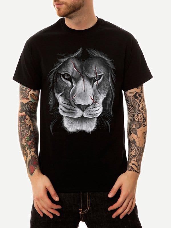 Купить Футболка с рисунком лева для мужчины, null, SheIn