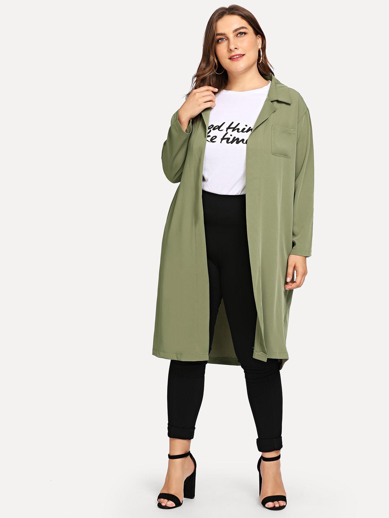 Купить Большая простая куртка и с украшением кармана, Franziska, SheIn